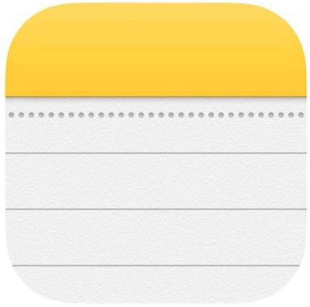 Icono de notas en iOS