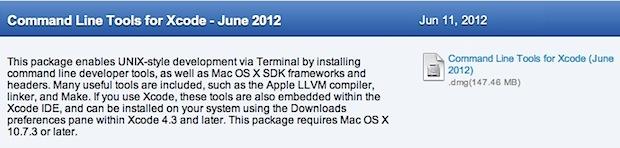 Instale GCC sin XCode en Mac OS X.