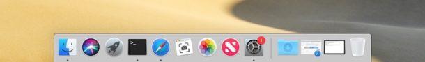 Las aplicaciones recientes en Mac Dock están deshabilitadas