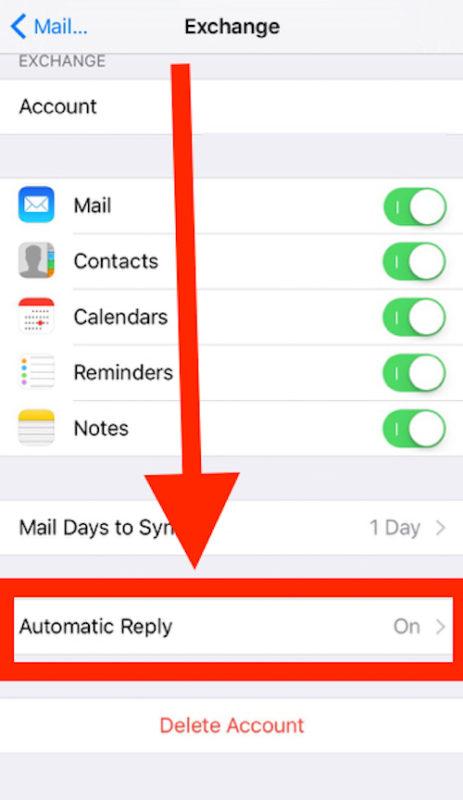Cómo configurar la respuesta automática de iOS en el correo electrónico en iPhone y iPad