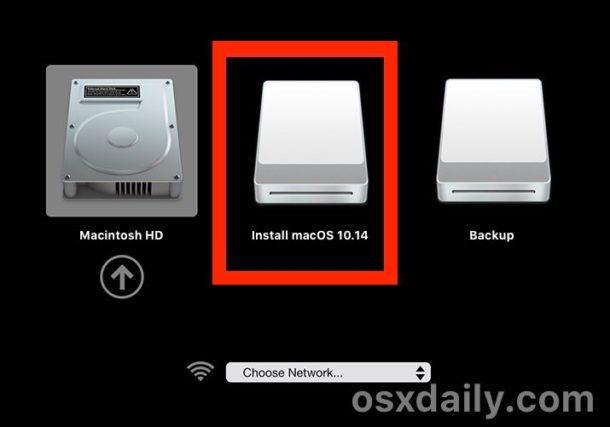Comience desde el instalador USB beta de macOS Mojave