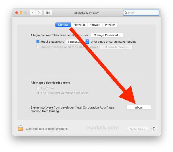 Permita que Intel Power Gadget se instale en su Mac