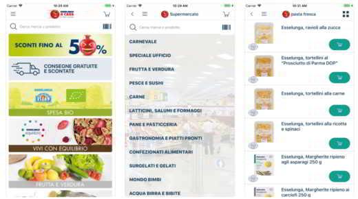 aplicación de supermercado