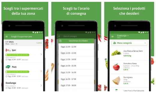 aplicación de compras