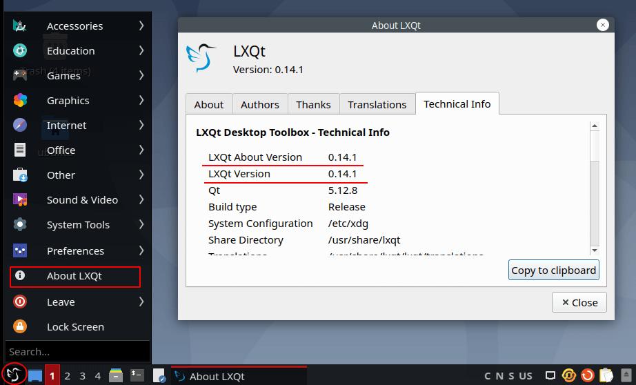 Versión LXQT en Ubuntu 20.04
