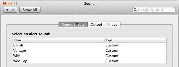 Obtenga sonidos clásicos de Macintosh en Mac OS X.