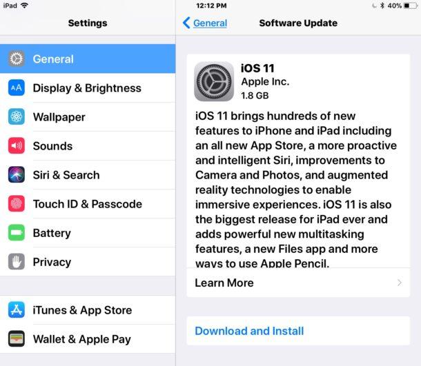 Descarga iOS 11 GM