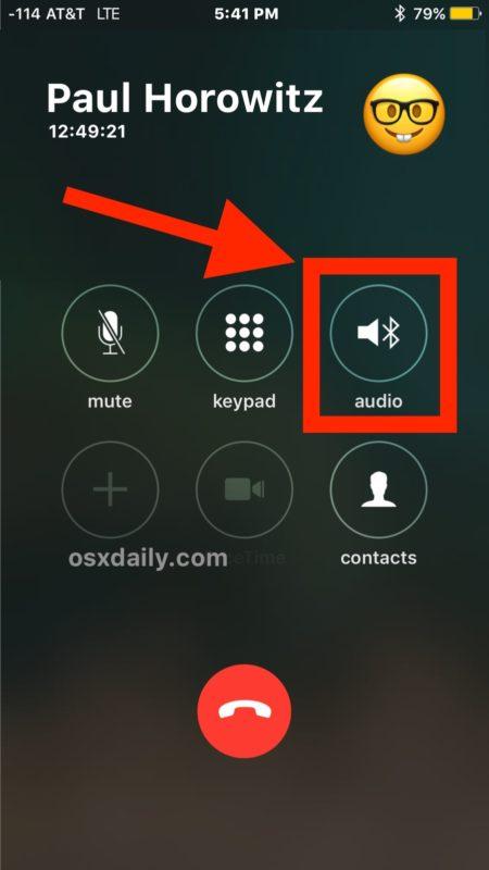 Cómo cambiar el sonido de Bluetooth de su iPhone durante una llamada telefónica