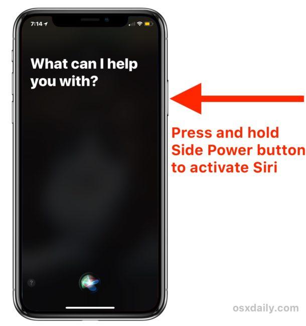 Cómo acceder a Siri en iPhone X.