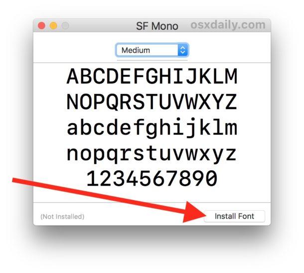 Instale SF Mono en su Mac