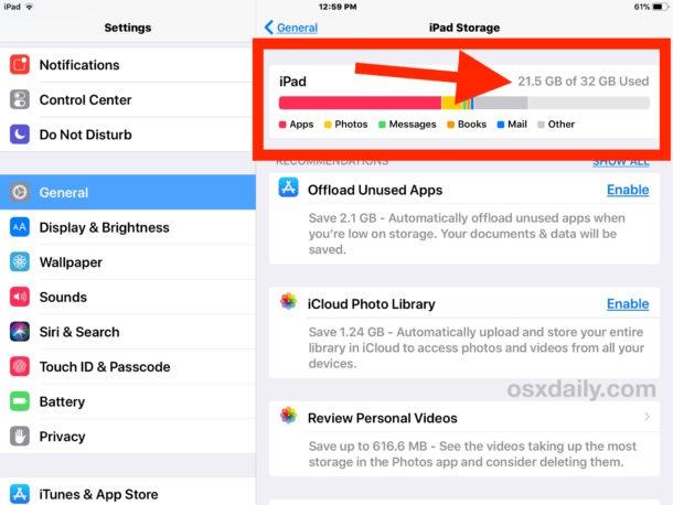 Cómo ver el espacio de almacenamiento utilizado en su iPhone o iPad