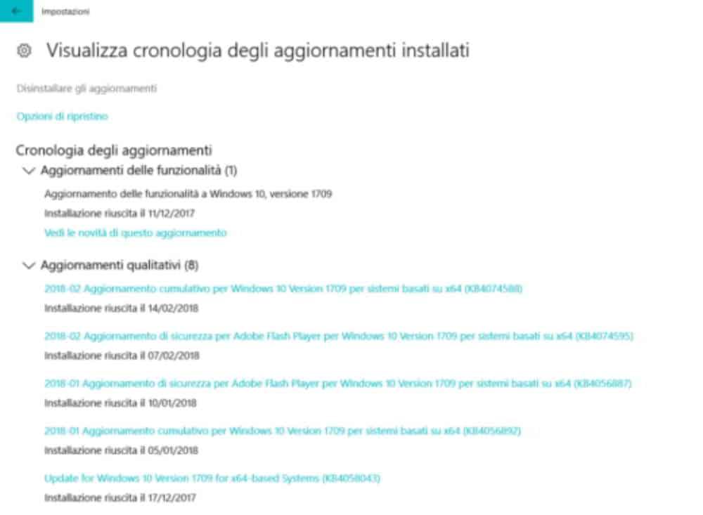 eliminar actualizaciones de Windows 10