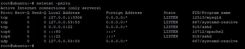 comprobar puertos abiertos - comando netstat