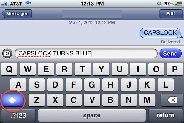 Habilitar el bloqueo de mayúsculas en iPhone y iPad