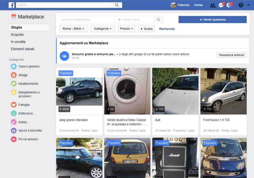 mercado de facebook
