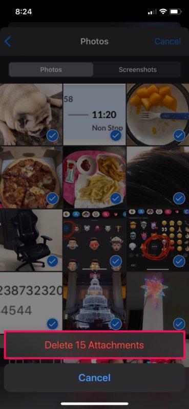 Cómo eliminar todas las fotos de los hilos de mensajes en iPhone y iPad