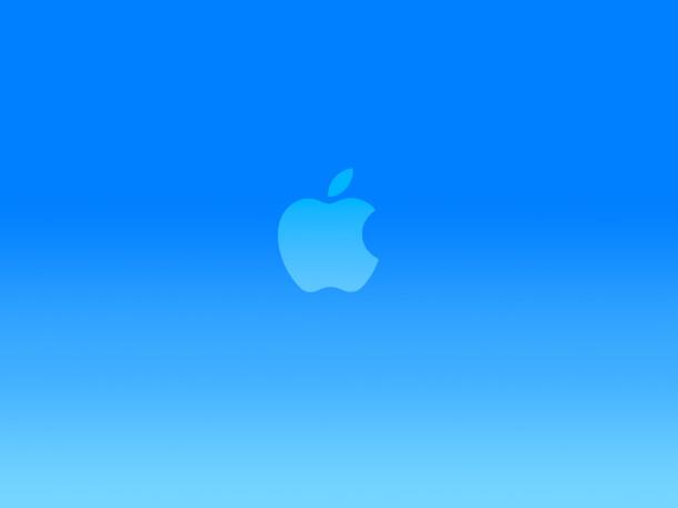 papel pintado-logo-azul-brillante-manzana