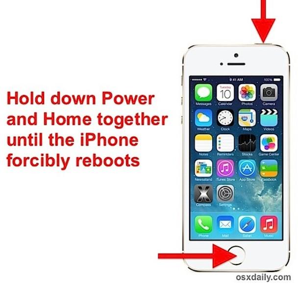 Forzar el reinicio de un iPhone / iPad