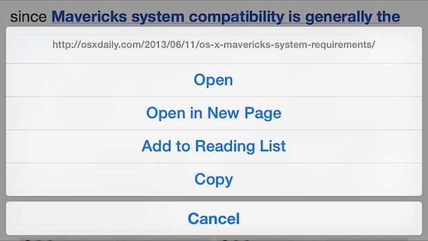Obtenga una vista previa de una URL completa de Safari en su iPhone