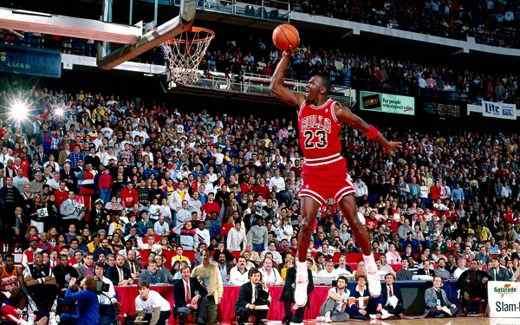 Michael Jordan en su juego aéreo