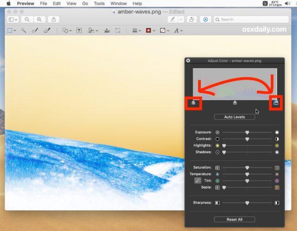 Cómo invertir el color de la imagen en Mac con vista previa invirtiendo puntos en blanco y negro