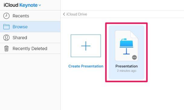 Cómo abrir archivos de Keynote en una computadora con Windows con iCloud