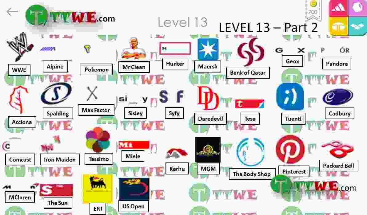 Nivel 13 Parte 2 Logo Quiz iPhone