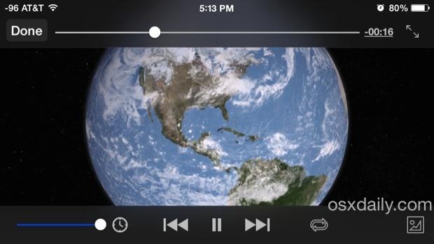 Comandos de reproducción de video VLC en iOS para ver películas
