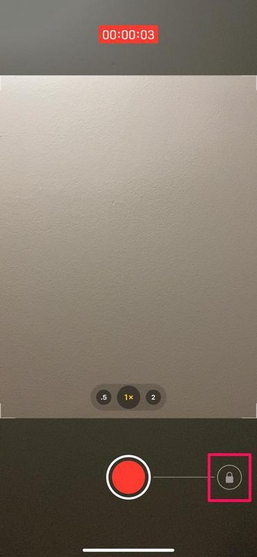 Cómo grabar video usando QuickTake en iPhone 11
