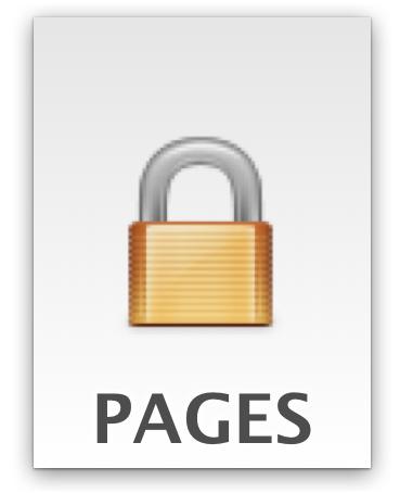 un documento de iWork bloqueado con contraseña en Mac OS X.
