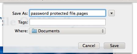 Guardar un documento de iWork bloqueado con contraseña