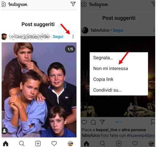 sugerencias de instagram