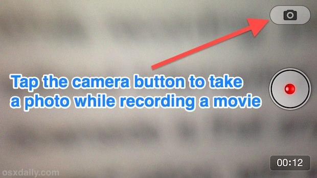 Tome una foto mientras graba videos en iPhone
