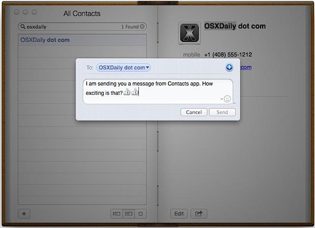 Enviar mensajes de texto desde la aplicación Contactos