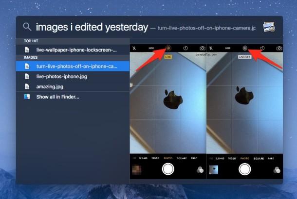 Encuentra los archivos que editaste ayer con Spotlight en tu Mac