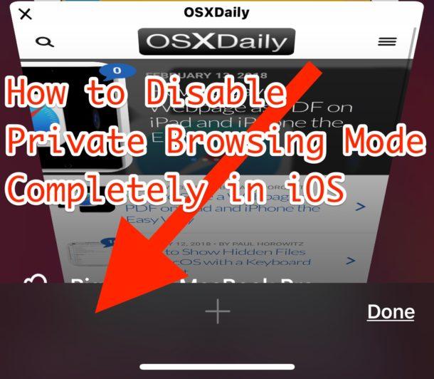 Desactiva completamente la navegación privada en iOS