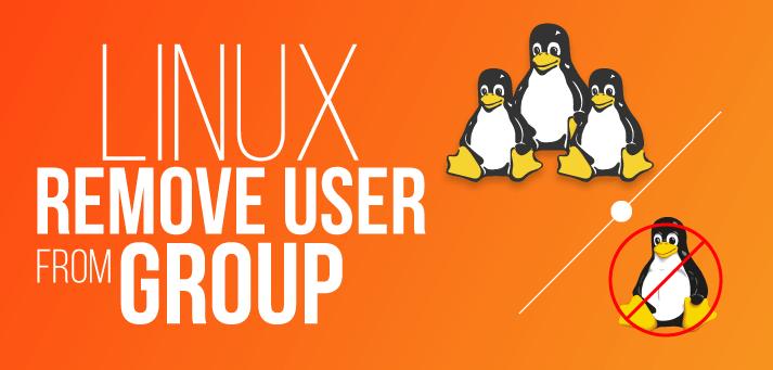 cómo eliminar un usuario de un grupo en linux