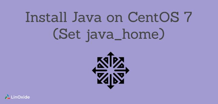 instalar java en CentOS 7