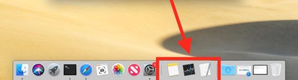 Ocultar o mostrar aplicaciones recientes en Mac Dock
