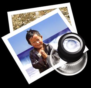 Icono de vista previa en Mac OS X.