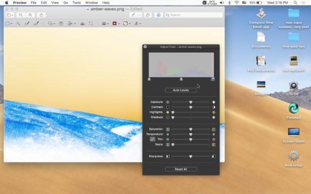 Cómo invertir una imagen en una Mac