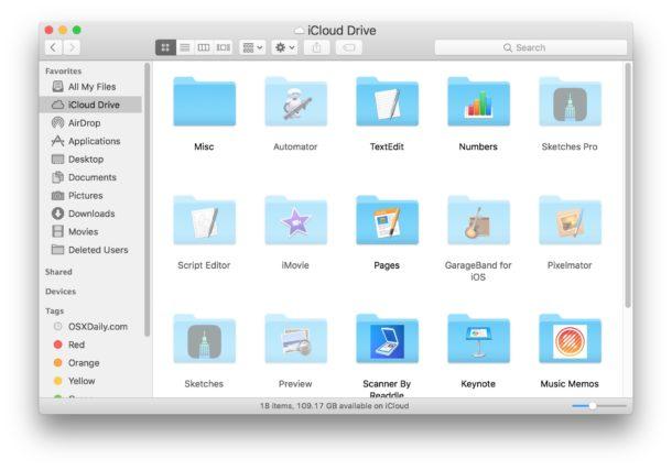 Cómo verificar el progreso de la carga de iCloud Drive en Mac