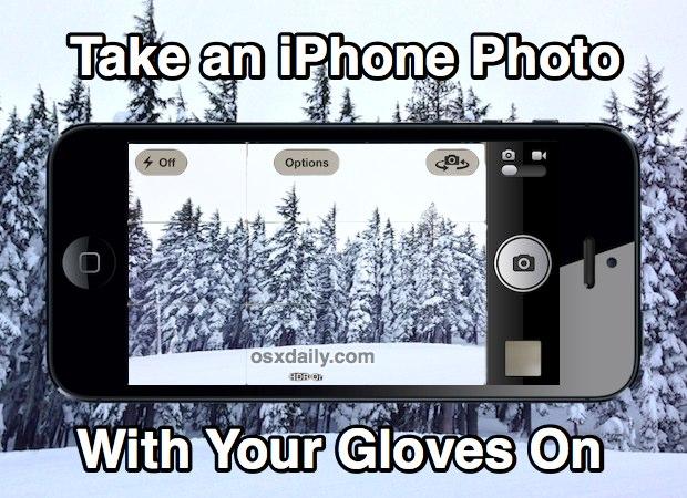 Toma una foto para iPhone con guantes
