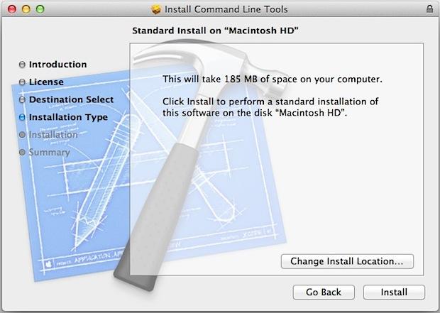 Las herramientas de línea de comandos para Mac OS X incluyen GCC, Make, LLVM y más