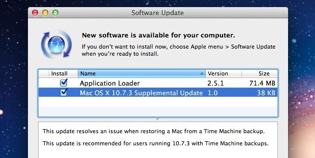 Actualización adicional de OS X 10.7.3