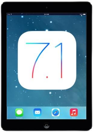 iPad Air con iOS 7.1