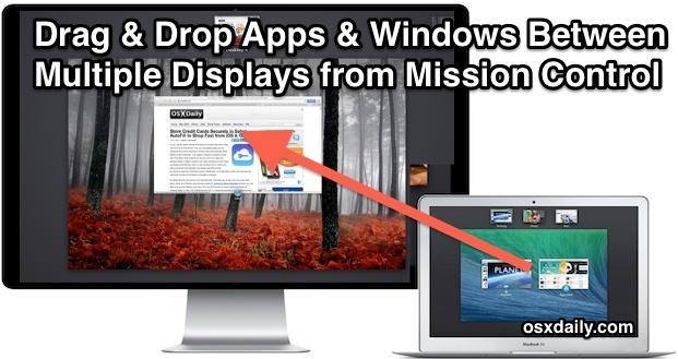 Administre múltiples ventanas de visualización con Mission Control en Mac OS X.