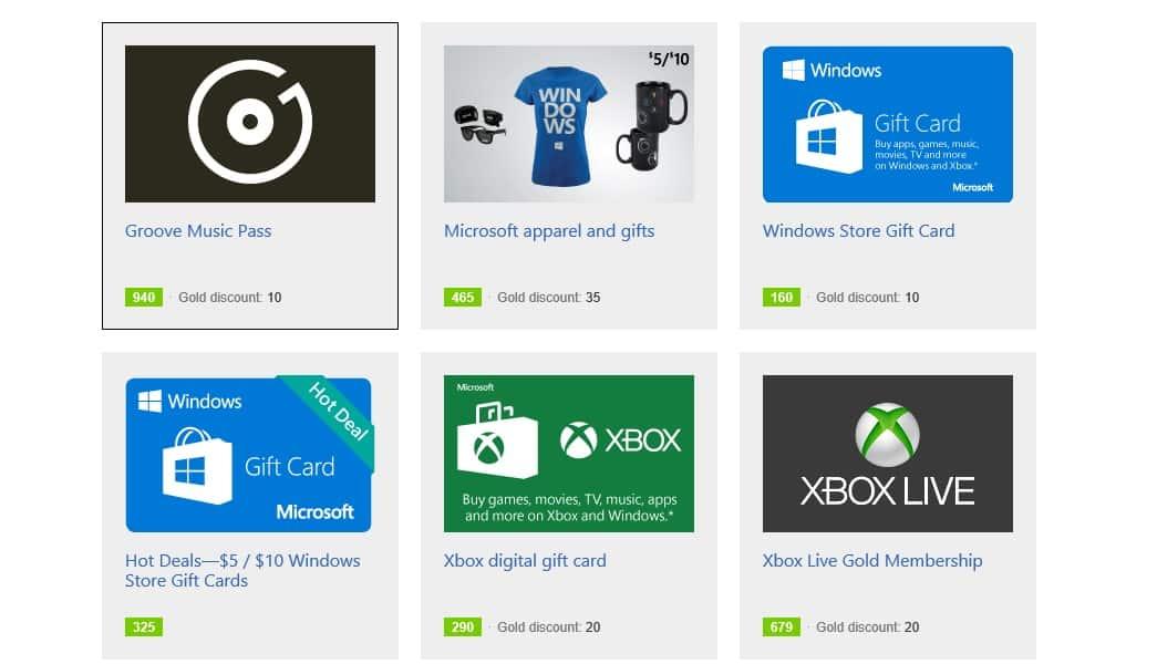 Página de recompensas de Bing