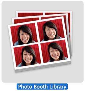 Biblioteca de fotomatón en Mac OS X.