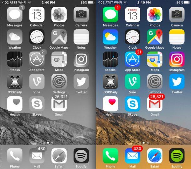 iPhone bloqueado en corrección de blanco y negro